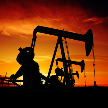pumpjack silhouettes
