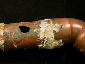 hard water pipe damage