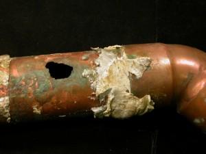 hard water pipe damage