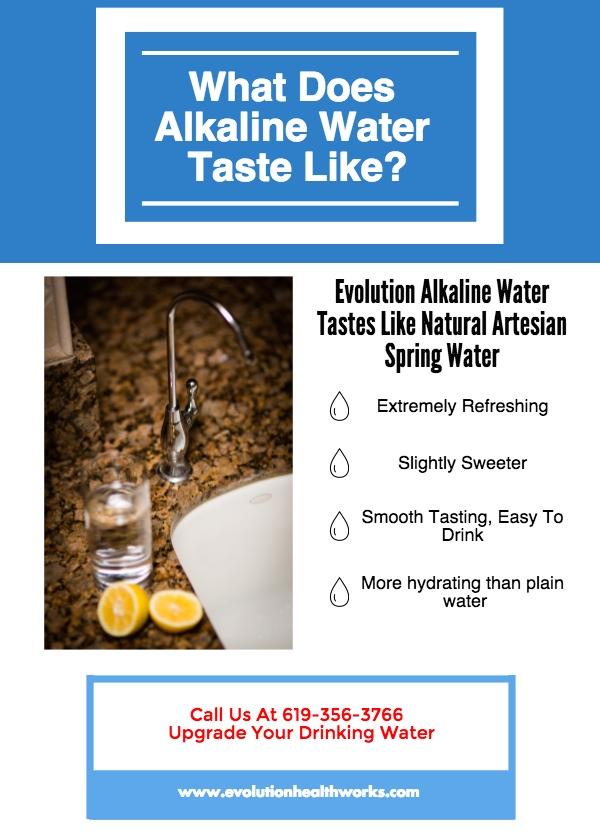 Evolution Alkaline Water Taste